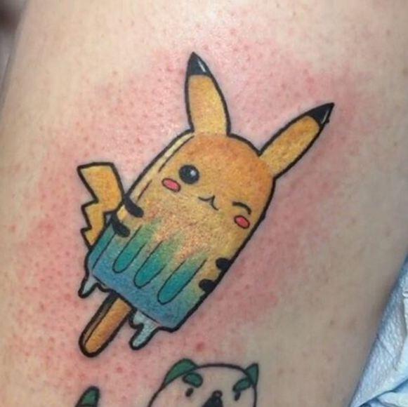 Anime Pikachu Tattoos