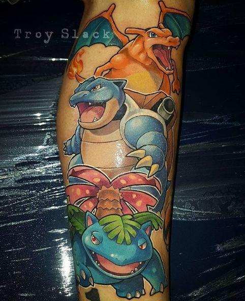 Anime Tattoos On Leg