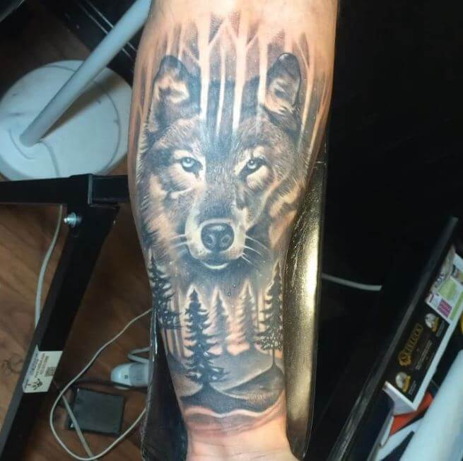 Arm Tattoos For Men Half Sleeves Wolf