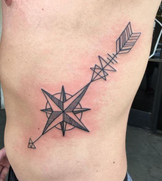 Arrow Tattoos On Rib