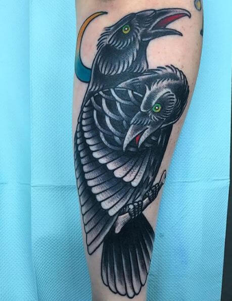 Awesome Crow Tattoos