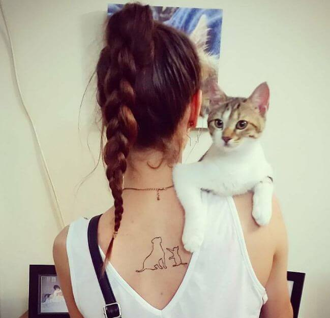 Cat And Dog Tattoo