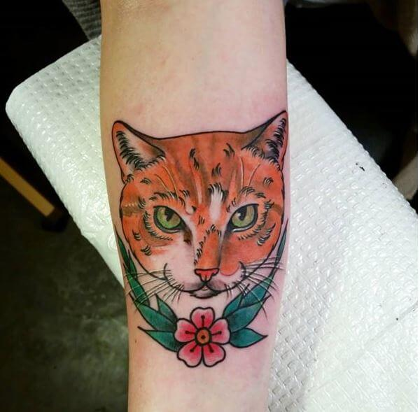 Cat Face Tattoo