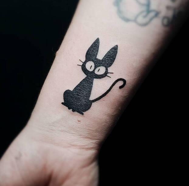 Cat Silhouette Tattoo