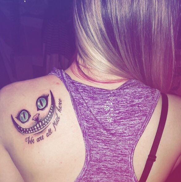 Cheshire Cat Tattoos For Girls