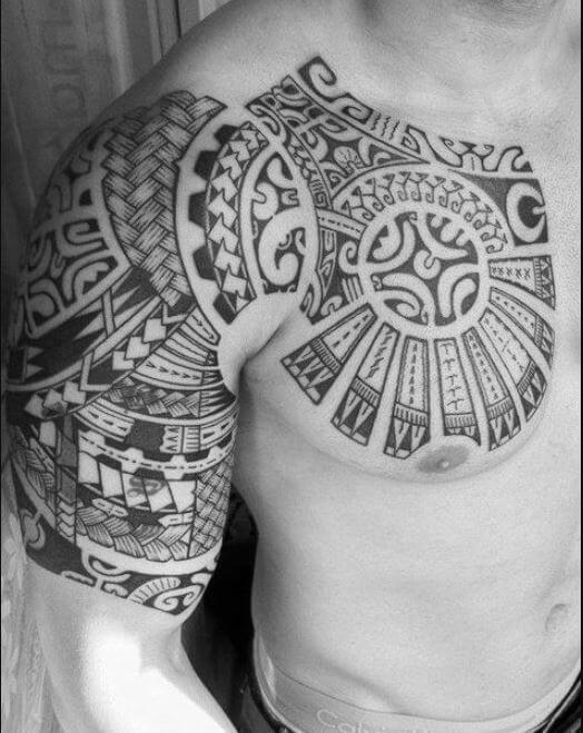 Chest And Arm Tattoos For Men