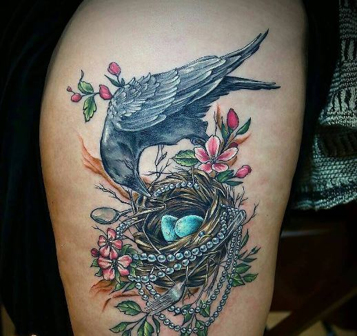 Crow And Nest Tattoos