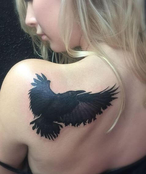 Crow Tattoos On Shoulder