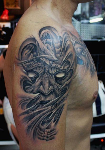 Demon Half Sleeve Tattoos