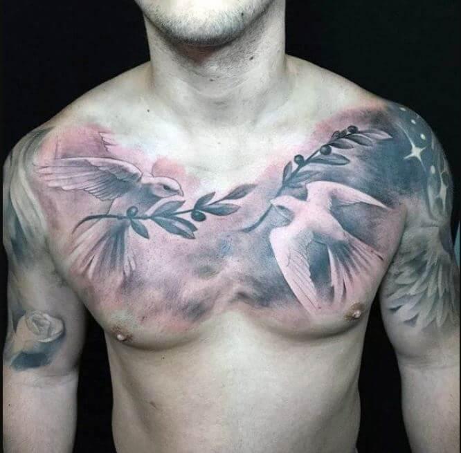 Dove Chest Tattoo