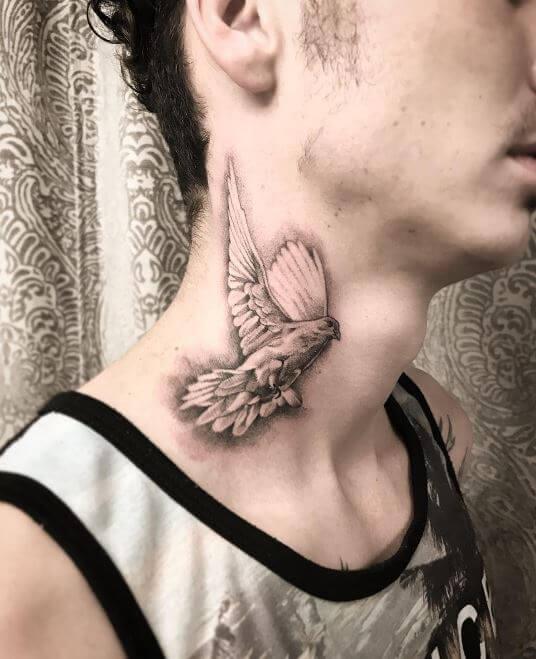 Dove Neck Tattoo