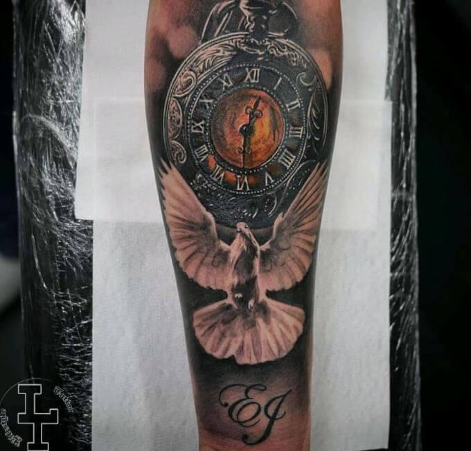 Dove Tattoo Flash