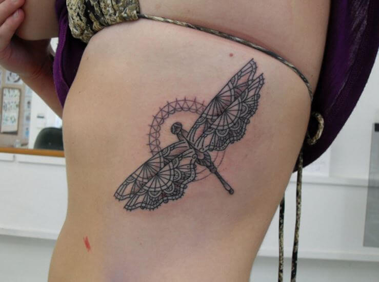 Dragonfly Tattoos For Girls
