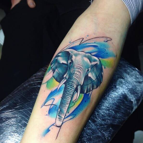 Elephant Ear Tattoo Inner Thigh