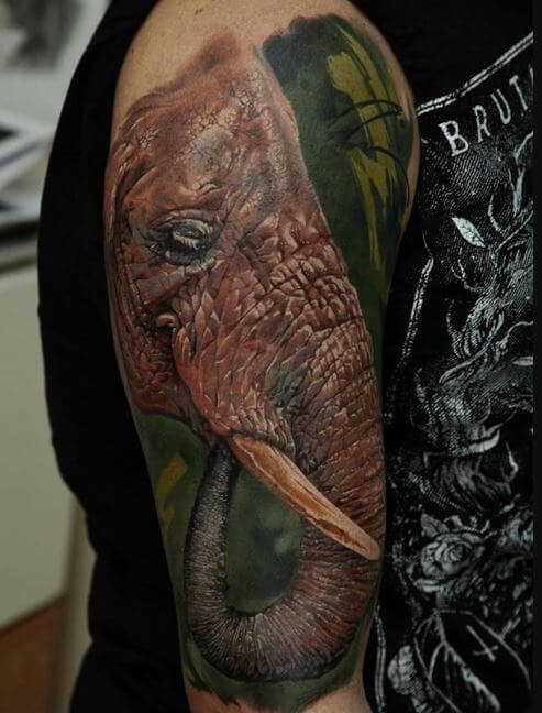 Elephant Japanese Tattoo