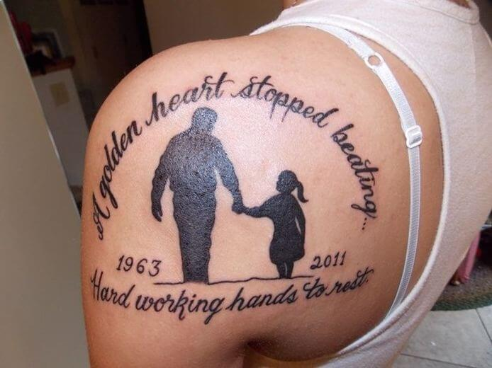 Father Daughter Matching Tattoos