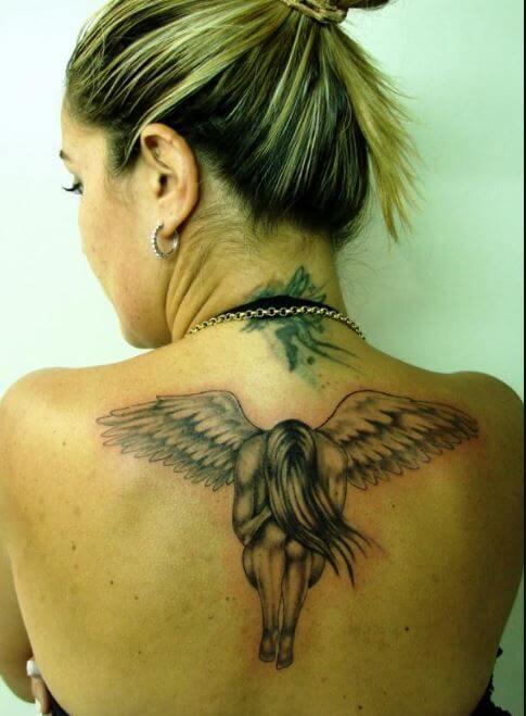 Female Angel Tattoo