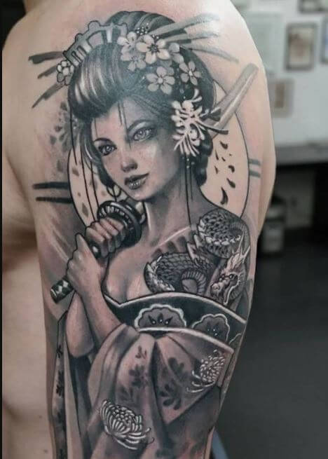 Female Samurai Tattoo