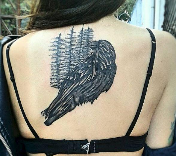 Forest Crow Tattoos