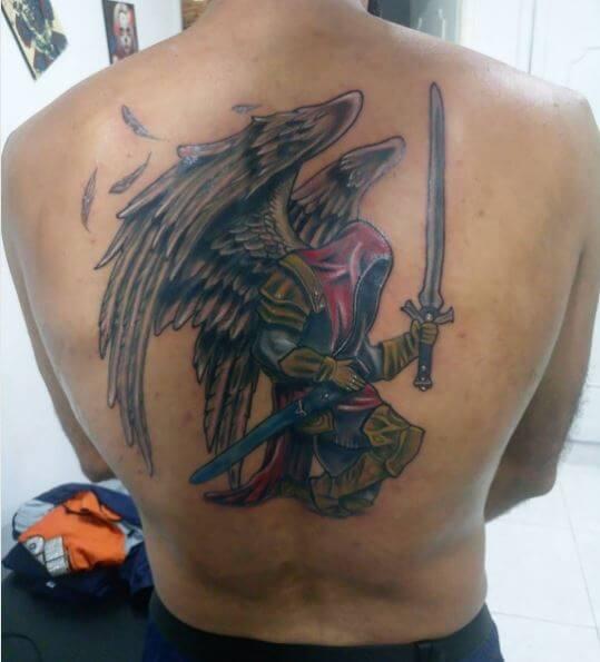 Full Back Angel Wings Tattoos