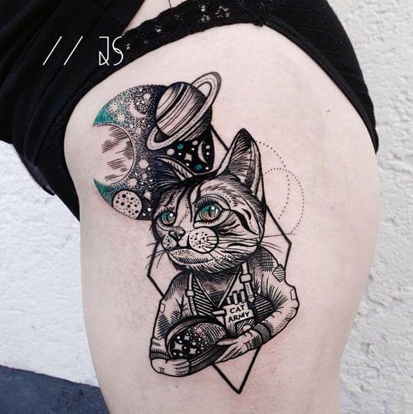 Funny Cat Tattoos