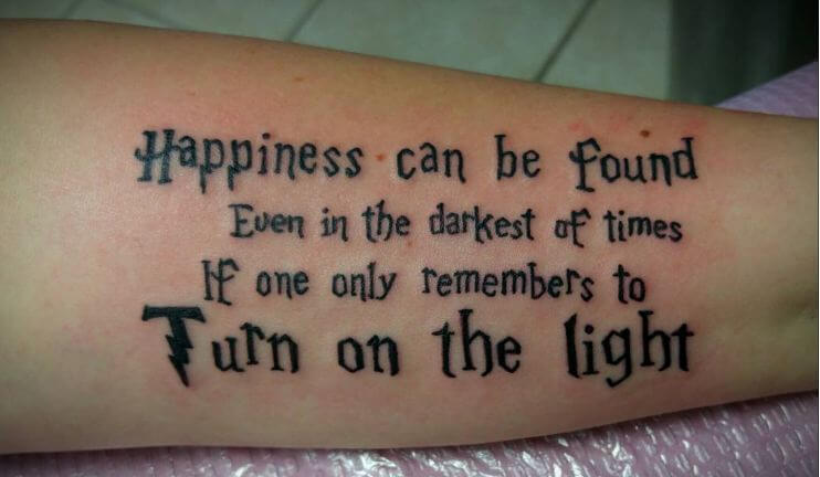 Harry Potter Quote Tattoos Dumbledore