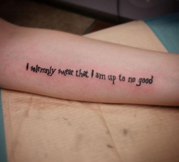 Harry Potter Quotes Tattoos