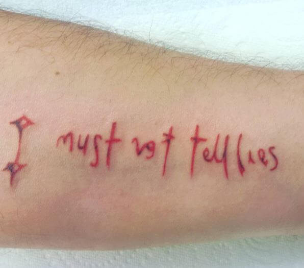 Harry Potter Tattoos I Must Not Tell Lies