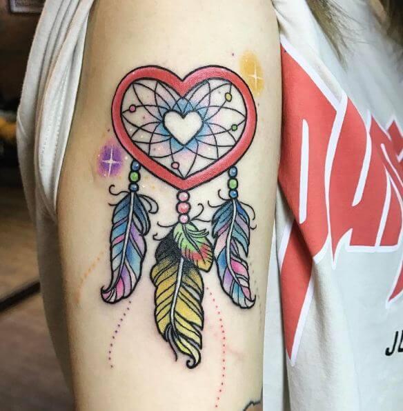 Heart Dreamcatcher Tattoos