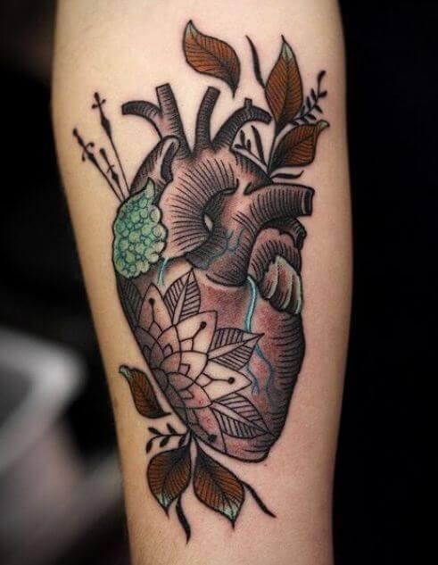 Heart On Sleeve Tattoos