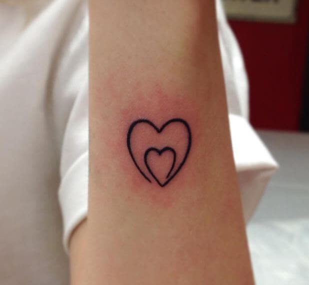 Heart Outlines Tattoos