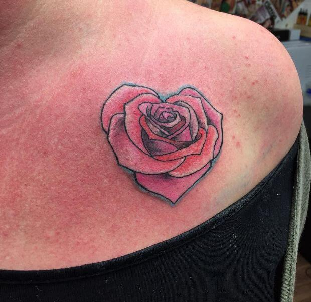 Heart Roses Tattoos