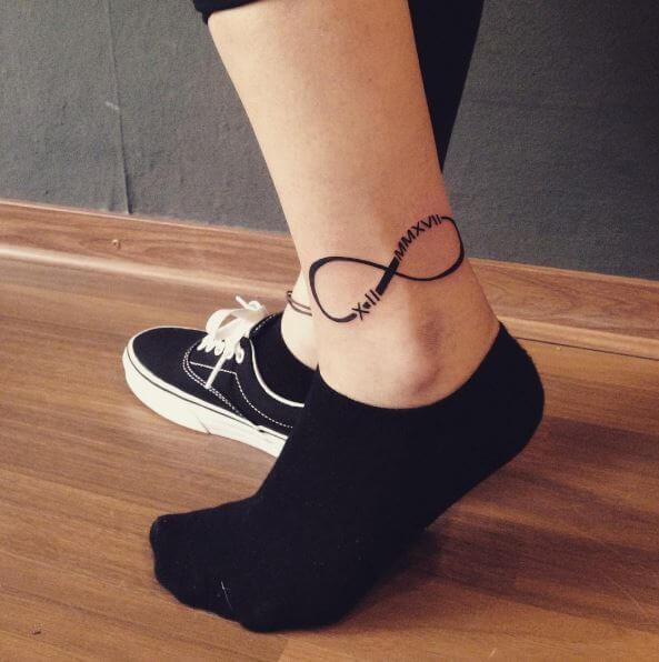 Infinity Tattoos Designs On Legs
