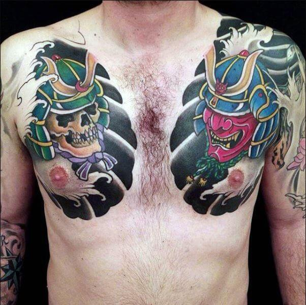 Japanese Samurai Masks Tattoo