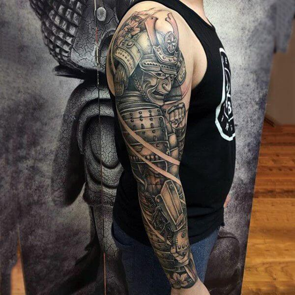 Japanese Samurai Tattoo Sleeve