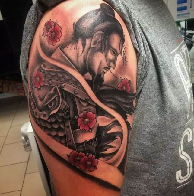 Japanese Samurai Warrior Tattoo Designs