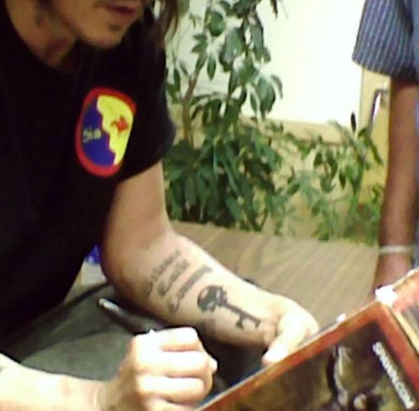 Johnny depp tattoo meaning