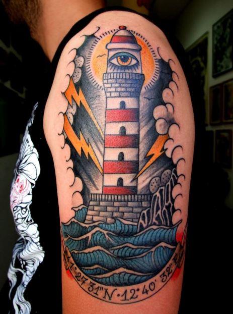 Light House Half Sleeve Tattoos