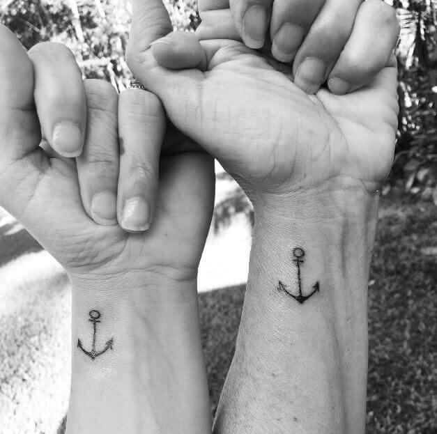 Matching Anchor Tattoos