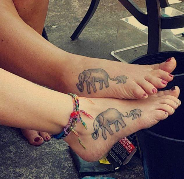 Matching Foot Tattoos