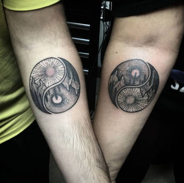 Matching Yin Yang Tattoos