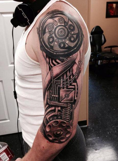 Mechanical Half Sleeve Tattoos For Boys
