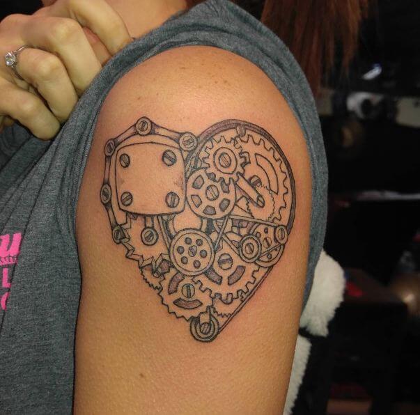 Mechanical Heart Tattoos