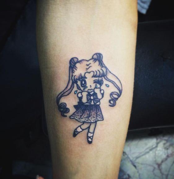Minimal Anime Tattoos