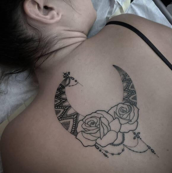 Moon And Back Tattoo