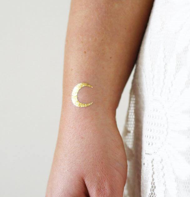 Moon Temporary Tattoos