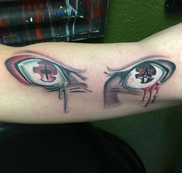 Naruto Eye Anime Tattoos