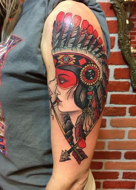 Native America Half Sleeve Tattoos