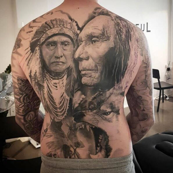 Native American Chief Tattoos