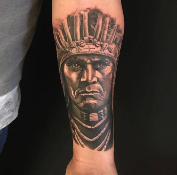 Native American Face Tattoos
